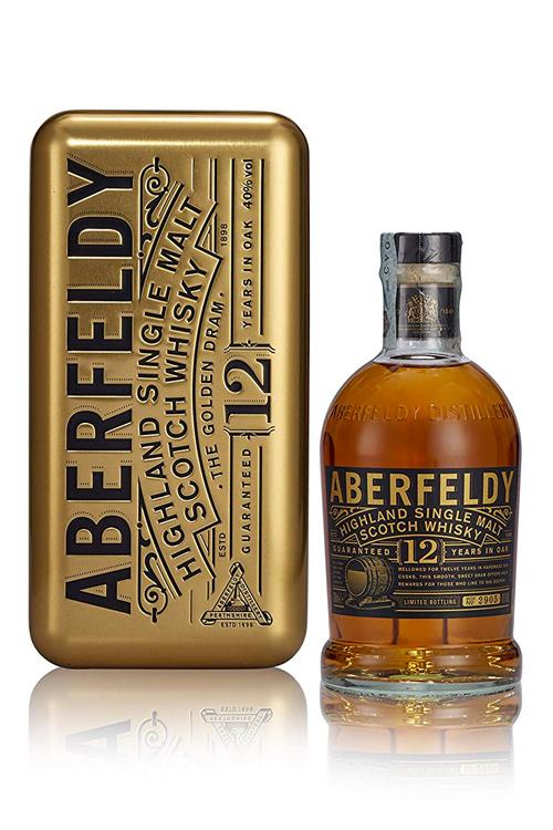 Aberfeldy Single Malt Whisky (12 Jahre) in der Gold Nugget Edition