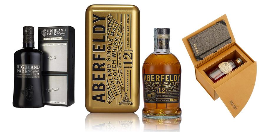 Whiskys mit außergewöhnlichen Geschenkverpackungen